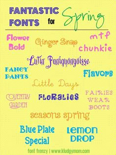 Font Frenzy Friday: Spring Fonts ~~ {13 Free fonts w/ easy links}