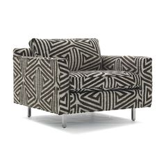 The Hunter Chair from Mitchell Gold & Bob Williams is a low and luxe modern chair with room for relaxing. Contemporary Armchair, Contemporary Furniture, Funky Furniture, White Furniture, Swivel Glider Chair, Chair Cushions, Mesh Office Chair, Office Chairs, Mitchell Gold