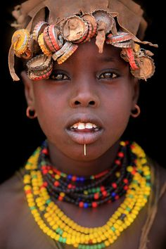 Africa | Dassanech portrait. Omo Valley, | © Claude Gourlay   - Explore the World with Travel Nerd Nici, one Country at a Time. http://TravelNerdNici.com