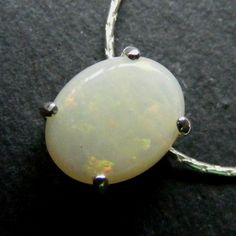 Pendant & Chain in Sterling Silver featuring Natural Australian White Opal £65.00