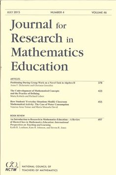 Journal for research in mathematics education. Vol . 46, nº 4, july 2015