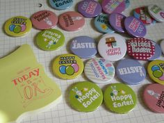 Easter Button Badges