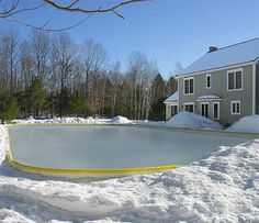 For Friends...a Backyard Ice Skating Rink. Great Way To Enjoy Time With  Friends U0026 Family Outside During The Winter Months. Include Outdoor Lightiu2026