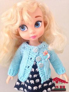 Disney Animator Dolls Clothes -  Pale Blue Cardigan - Sweater by SherbetLemoni on Etsy