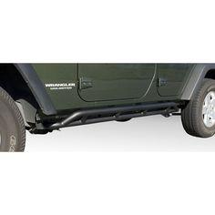 RRC Rocker Guards, Black; 07-16 Jeep Wrangler Unlimited JK - Crawltech Offroad