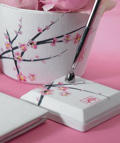 Cherry Blossom Wedding Pen Set