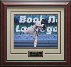 Yasiel Puig LA Dodgers Framed Photo | Signed Photo, Jersey, Baseball, Bat, Cleat