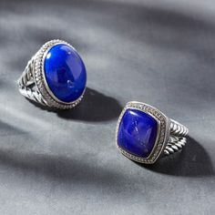Albion rings with lapis lazuli.