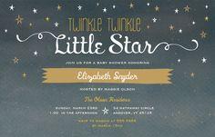Twinkle Twinkle Little Star Baby Shower   Vistaprint