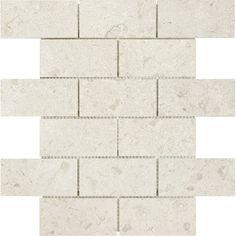 Shop Anatolia Tile Marfil Polished Marble Natural Stone Mosaic Subway Wall Common