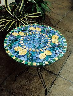 lemon mosaic table by mosaicfrance, via Flickr