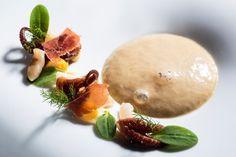 Razors clams, lulinhas, Iberian ham, mushrooms and chickpeas Hans Neuner