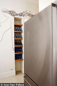Cuisine : Un casier à bouteille très... illustré