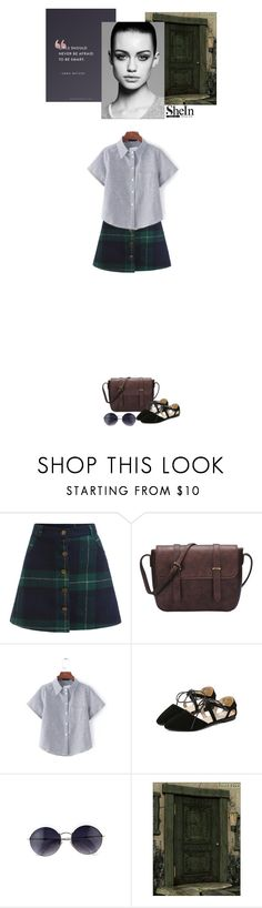 """Shein skirt"" by blueeyed-dreamer ❤ liked on Polyvore featuring Emma Watson, Trowbridge, Summer, casual, contest, tartan and shein"