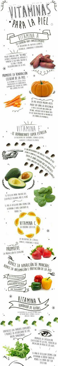 Cuida tu #piel agregando estas #vitaminas para rejuvenecerla y nutrirla.