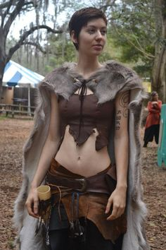 She's gonna play an orc in conquest of mythodea (a LARP). Barbarian Costume, Warrior Costume, Viking Costume, Faun Costume, Viking Cosplay, Costume Makeup, Fantasy Costumes, Cosplay Costumes, Witch Costumes