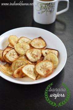Vegan, glutenfree raw banana (plantain) chips or Kele ke chips, Vazhakkai Chips is very easy to prepare and great Navratri fasting/vrat or any time snack recipe