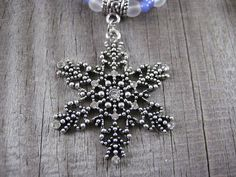Silver Rhinestone Snowflake Necklace-New Items Just Listed!!  So Long September Sale ★ 15% OFF ★ On All Orders of $5.00 or more!! Use Code GEMZ15 when ordering. Discount Valid This Weekend Only!!