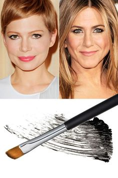 """Luxe-Lash Trick - Mascara wands are often too bulky to properly coat your lower lashes, which is why makeup artist Angela Levin uses a flat, angled eye-shadow brush on clients like Michelle Williams and Jennifer Aniston instead. Dip it in mascara, then """"start at the roots to create an on-the-spot eye-opener,"""" Levin says."""