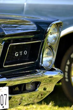 Blue GTO Photograph..Re-pin...Brought to you by #CarInsurance at #HouseofInsurance in Eugene, Oregon