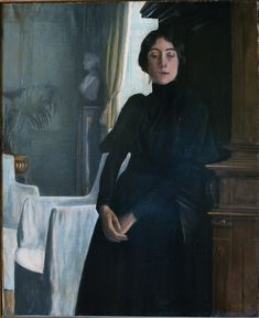 Portrait of Stephanie Nantas - Santiago Rusiñol Prats - The Athenaeum Spanish Painters, Spanish Artists, Picasso Cubism, Face Proportions, Ideal Beauty, Ferrat, Romance, Traditional Art, Painting & Drawing