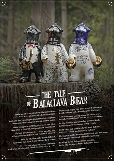 Sootcookie ceramics and Alex Goldberg have collaborated to design a range of characters who create havoc in the woods.