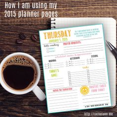 Get January printable planning pages FREE for two more hours! http://rachelann.me I wanted a way to remember that everything I do each day is for God.  I created these planner pages to set the day right, from morning to night.