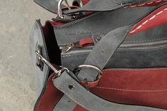 leather bag handmade kuferek shoulder bag ladybuq art
