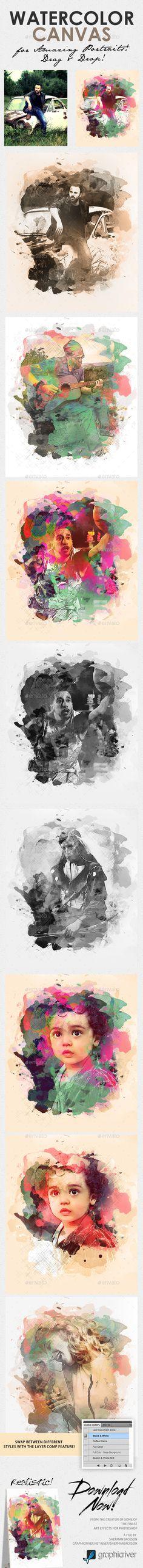 Watercolour Canvas - Photo to Art