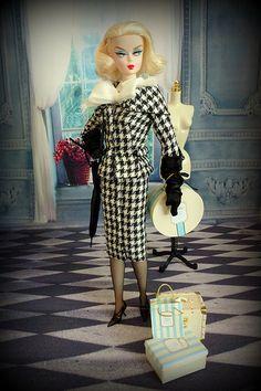 Walking Suit silkstone Barbie re-styled - Mademoiselle de Paris