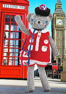 "Coco says ""Cheerio!"" from the UK in a '60s mod dress and Union Jack bag!"