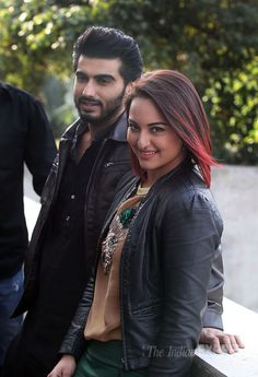 Arjun Kapoor and Sonakshi Sinha in Chandigarh to promote 'Tevar'. #Bollywood #Fashion #Style #Beauty