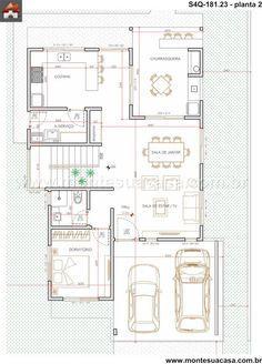 Interior legal Sobrado 3 Quartos - 181.23m²