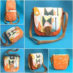 """Namrata used """"Sandra saddle bag"""" pattern by Swoon pattern.  If you like this bag make sure to give it a HEART/LIKE. Re-PIN for an extra point towards this project.  #ArtGalleryFabrics #WeAreFabrics #design #pattern #sew #diy #handmade #bound #bag"""