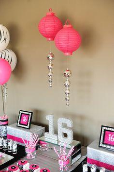 Sweet Sixteen Zebra Party