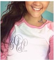 Monogrammed Baseball Tees $19.95!! So cute for year round.