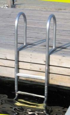 Zwemtrap/steigertrap RVS zwemtrap voor steiger of boot zwemtrappen/steigertrap RVS zwemtrap zwemtrap