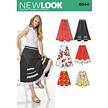 Buy New Look Women's Skirts Sewing Patterns, 6944 Online at johnlewis.com