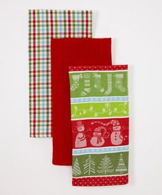 Take a look at this Winter Fun Dish Towel Set by Design Imports on #zulily today!