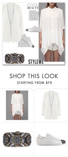 """""""Stylewe 4"""" by emina-turic ❤ liked on Polyvore featuring WithChic, Non, adidas Originals, Summer, office and polyvoreeditorial"""