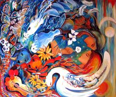 Spirit Paintings -  Ronnie Biccard Artist - The Joy of Life