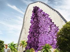 the amethyst hotel by NL architects features exposed crystalline forms - designboom | architecture