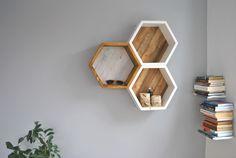Półka HONEY - heksagon - WarsztArt - Półki