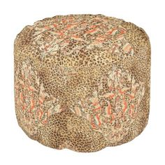 """Title : 101, SW, Suzani, Leather, Fur, Brocade, Lux, Fab Pouf  Description : These designs are a mix of """"Leather-Fabric"""", and other fabric patterns, such as Damask, Jacquard, Brocade to add an Elegant Style to your Home decor.  Product Description : <div>  Fabric: Grade A Woven Cotton    <div>    <p>Poufs are an easy way to incorporate more seating into a space that requires flexibility within its usage, without committing to larger furniture pieces. Custom poufs are an easy way to curate…"""