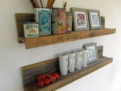 Reclaimed Wood Shelf   Reclaimed Wood Shelf // Upcycled Recycled Repurposed by reVetro