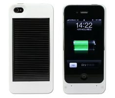 iPhone 4 Solar Case. Charge your phone while it catches some rays. - Too bad I'm inside all day :(