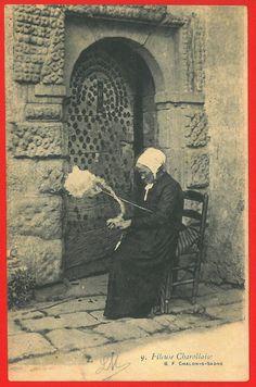 Alte Postkarten Frankreich, Spindeln / Old PostcardsFrance, spindles