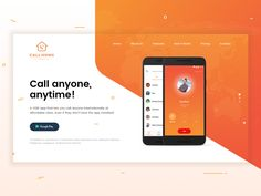 This idea was done for a landing page of A VOIP mobile app that lets you call anyone internationally at affordable rates, even if they don't have the app installed! I am welcome with any feedback, ...