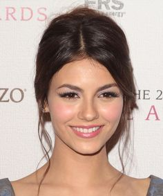 Victoria Justice - I like her up-do! That would work for my hair.