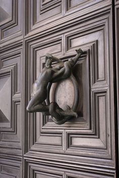 Italy - struggling female figure door knocker - on HealthyTowers Tumblr